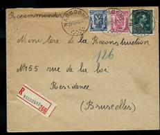 Doc. De NASSOGNE  20/12/1948   En Rec. De Nassogne ( Lion Et Col Ouvert - 10%) - Poststempel