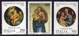 ITALIA REPUBBLICA ITALY REPUBLIC 1983 NATALE CHRISTMAS NOEL WEIHNACHTEN NAVIDAD RAFFAELLO SANZIO SERIE COMPLETA SET MNH - 1981-90: Mint/hinged