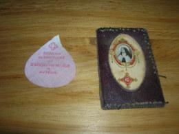 Image Pieuse Relique Reliquaire Petale Souvenir De Ste Therese A Auteuil Et Porte Photo Avec Un Bout D Etoffe - Images Religieuses