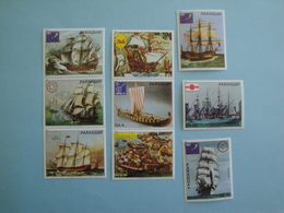 1980 Paraguay Bateaux Yv 1777/83 + PA 843/4  ** MNH  - Michel  3314/22 Ships - Paraguay