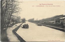 82 - DIEUPENTALE -Tarn-et-Garonne) - Pont Sur Le Canal Latéral. Animée, Péniche. - Houseboats