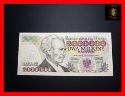 POLAND 2.000.000 2000000 Zlotych 14.8.1992 P. 158 A ERROR  UNC - Pologne