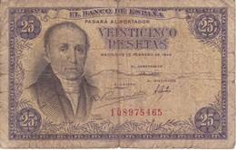 BILLETE DE ESPAÑA DE 25 PTAS DEL 19/02/1946 SERIE I  CALIDAD RC (BANKNOTE) - [ 3] 1936-1975 : Regime Di Franco
