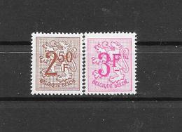 België  1970 Y&T 1544/45 (**) 50% - Unused Stamps
