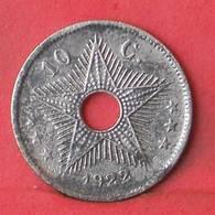 BELGIAN CONGO 10 CENTS 1922 -    KM# 18 - (Nº35519) - Congo (Belga) & Ruanda-Urundi