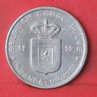 RUANDA URUNDI 1 FRANC 1959 -    KM# 4 - (Nº35521) - 1951-1960: Baudouin I