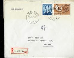 Doc. De MONTZEN  - A  - Triangle - Du 22/08/63 En Rec. De Montzen - Marcophilie