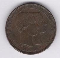 Belgique. Léopold I. Médaille En Cuivre , Module De 10 Cts. Morin # M/3a 21/22 Août 1853. TTB. Cote Morin : 25 € - 1831-1865: Léopold I