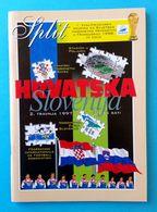 CROATIA V SLOVENIA - 1998 FIFA WORLD CUP Qual. Football Match Programme * Soccer Fussball Programm Calcio Programma Foot - Tickets - Entradas