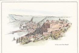 AK St. Goar Mit Der Ruine Rheinfels - Künstlerkarte (50187) - St. Goar