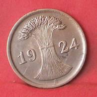 DEUTSCHES REICH 2 REICHSPFENNIG 1924 A -    KM# 38 - (Nº35529) - 2 Rentenpfennig & 2 Reichspfennig