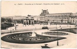 75 - PARIS Perspective Sur Le Carrousel The Arc De Triomphe Carrousel 1939  N°25  A LECONTE, 16 Rue Des Archives_CPA-TTB - Arrondissement: 01