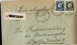 Doc. De MONTENAU  07/03/25  En Rec. : Montenau (type Montenez: 211et 214) - Postmark Collection
