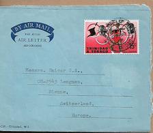 TRINIDAD & TOBAGO 1968 AEROGRAMME Sent To Bienne 1 Stamp AEROGRAMME USED - Trinité & Tobago (1962-...)