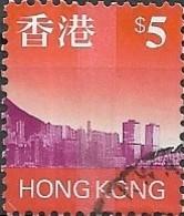 HONG KONG 1997 Hong Kong Skyline - $5 - Mauve And Orange FU - Used Stamps