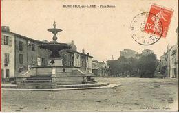 43- MONISTROL-sur-LOIRE - Place Néron - Circulée - Scans Recto Verso - Monistrol Sur Loire