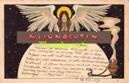 CPA LITHO 1899 STENGEL DRESDEN ILLUSTRATEUR FEMME ART NOUVEAU ARTIST SIGNED LADY WEIHNACHTEN ( PLI D'ANGLE CORNER CREASE - Other Illustrators