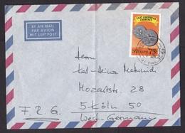 St Vincent: Airmail Cover To Germany, 1989, 1 Stamp, Coin, Money, Ship Cancel At Back (minor Damage) - St.-Vincent En De Grenadines