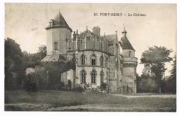 Pont-Remy - Le Château - 10 - Circulé - Mlle LECAT - Altri Comuni
