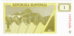 LOT073 - Banknote Slovenia Republika Slovenija 1 Tolar ENA Sekretariat Za Finance - UNC - Slovénie