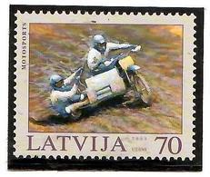 Latvia  2003 . Motosport. 1v: 70 . Michel # 599 A - Lettonie