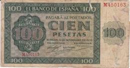 BILLETE DE ESPAÑA DE 100 PTAS 20/05/1936 SERIE M EN CALIDAD BC (BANK NOTE) - [ 3] 1936-1975 : Régimen De Franco