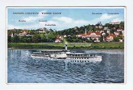 DRESDEN - LOSCHWITZ:    WEISSER  HIRSCH  -  KLEINFORMAT - Houseboats