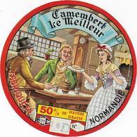 ETIQUETTE   DE   FROMAGE    NEUVE FROMAGE CAMEMBERT LE MEILLEUR NORMANDIE 76 D CANEHAN - Cheese