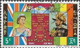 ETHIOPIA 1965 Air. Visit Of Queen Elizabeth II - 5c Queen Elizabeth II And Emperor Haile Selassie FU - Äthiopien