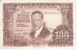 BILLETE DE ESPAÑA DE 100 PTAS DEL 7/04/1953 SERIE X  (BANKNOTE) - [ 3] 1936-1975 : Régimen De Franco