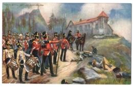 """CPA Militaria - TUCK And Son """"Oilette"""" -  Famous British Battle, Badajoz 1812. Wellington Congratulating Col. Watson - Militaria"""