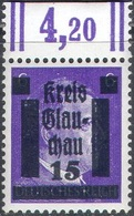 M1111 ✅ Defins Hitler Glauchau Soviet Occupation Local 1945 Germany Mi.5a MNH ** 7ME - Zona Soviética