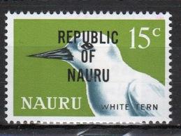 Nauru Single 15c Stamp From 1968 Definitive Set Overprinted Republic Of Nauru. - Nauru
