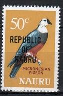 Nauru Single 50c Stamp From 1968 Definitive Set Overprinted Republic Of Nauru. - Nauru