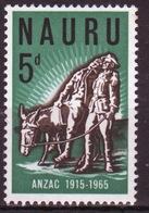 Nauru Single Stamp From 1965 To Celebrate The 50th Anniversary Of The Gallipoli Landing. - Nauru
