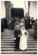 Photo 11x17cm Mariage Yvonne LABADIE BRUNEL - BEYROUTH 1936 - Militaires - Photo Scavo - Geïdentificeerde Personen