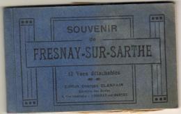 D72  FRESNAY SUR SARTHE   ............... CARNET DE 12 CP ( 1 Détachée Mais Présente Dans Le Carnet) - Francia