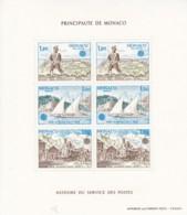 € Monaco .. Bloc B 17 .. Europa CEPT 1979 .. Courrrier Marine Train Facteur  ** MNH .. Cote 30.00 € - Europa-CEPT