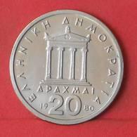 GREECE 20 DRACHMAI 1980 -    KM# 120 - (Nº35570) - Greece