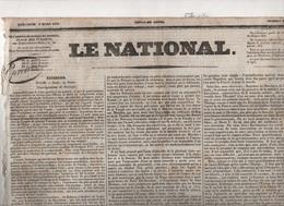 LE NATIONAL 09 03 1831 - ROME - POLOGNE - AUTRICHE / ITALIE - HAÏTI - MORBIHAN JOSSELIN TALHOUET - THEATRES OPERAS ... - Zeitungen
