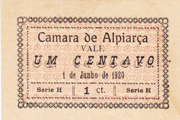 Portugal Cédula De Alpiarça  Nº 184  Série  H - Portugal