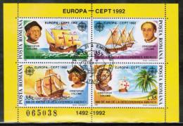 CEPT 1992 RO MI BL 271 USED ROMANIA - Europa-CEPT