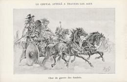 Le Cheval Attelé à Travers Les Ages.  Char De Guerre Des Gaulois - Chevaux