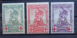 BELGIE 1914     Nr. 126 - 128   Gesloten  Q    Postfris ** - 1914-1915 Red Cross