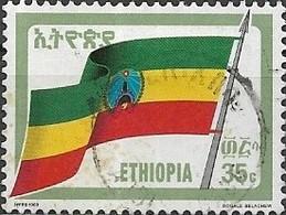 ETHIOPIA 1990 Revolutionary Flag - 35c - Multicoloured FU - Äthiopien