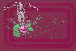 Cpa ( Celluloide )-05-embrun-pas Sur Delc.-chasseur Alpin Marius Granger Du 30e B.C.A.-militaria - Embrun
