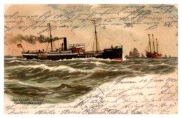 Argodampfer Strauss Steamer Ship - Paquebots