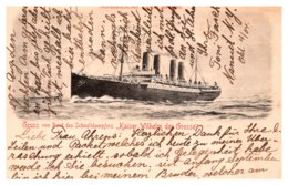 Germany   Kaiser Wilhelm Der Grosse ,Gruss Von Bord Des Schnelldampfers - Steamers