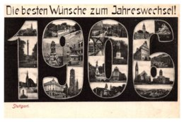 Germany  Stuttgart  Die Besten Wunsche Zum Jahreswechsel ! 1906 - Germany
