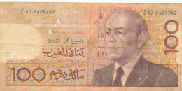 BILLET -  MAROC - BANK AL MAGHRIB  100 DIRHAMS - Marocco